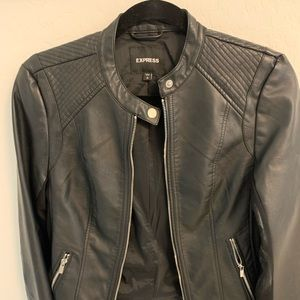 Express woman's leather jacket